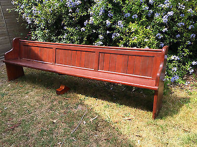 Antique Church Pew Bench Wooden Chair