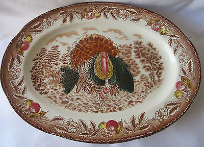 Oval Turkey Platter - Thanksgiving Dinner Plate - Large Serving Platter –Vintage