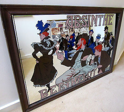 UNIQUE GOFFART LITHOGRAPHE MIRROR FRAMED ART WORK