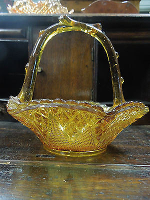 Vintage Depression Glass Basket- Made in England