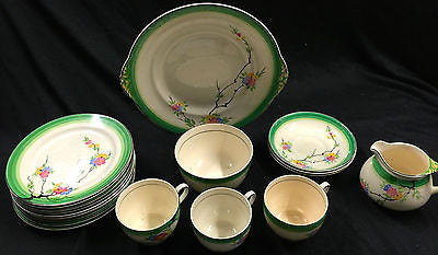 Vintage Dinnerware Set - Solian Ware Soho Pottery Cobridge – 19 Pieces