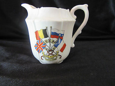 "*RARE* Vintage Jug ""For Right and Freedom"" World War I - The Allies Milk Cream"