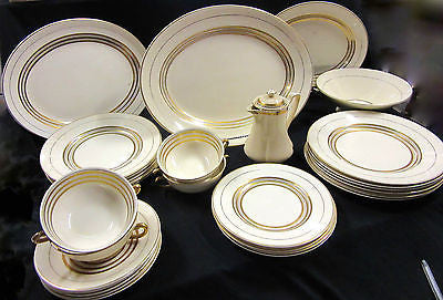Antique Dinnerware Set - Empire England Shelton Ivory – 1938 England – 25 Pieces