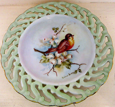 Bernice Gamble Decorative Plate Bird 1972