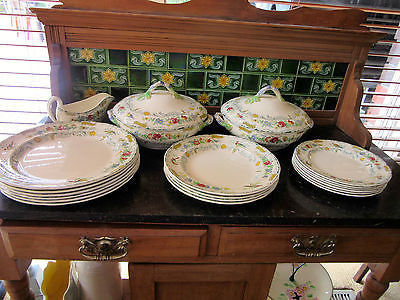 Vintage Spode's 'Royal Jasmine' Dinner Ware Set Copeland Spode Made in England