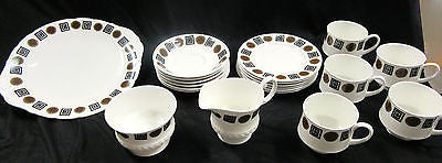 Fine Bone China Tea Set - English Art Deco – Vintage – 20 Pieces