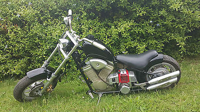 Rare Harley Davidson imitation black pull start monkey/mini motor bike