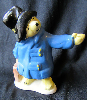 "Vintage Paddington Bear Figurine 1976 Coleport Coalport Statue ""Hitch Hikes"""