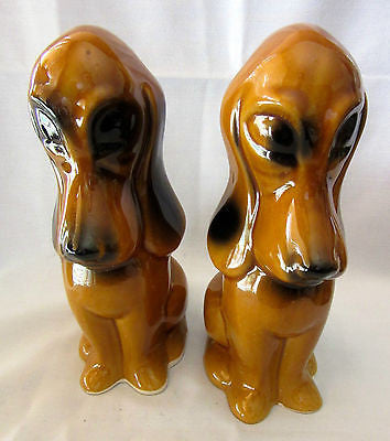 Pair of Vintage Porcelain Dog Statue Figurine Sculpture Collectable Animal Decor