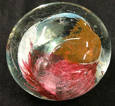 Glass Ball Paperweight - Small Glass Ornament