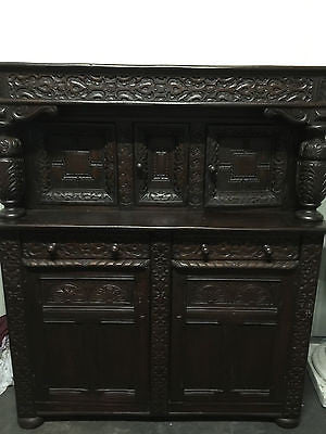 Buffet Cabinet - Oak Sideboard - Early Gregorian Vintage