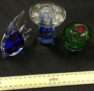 Art Glass Paperweight - Glass Ornament – 3 Available