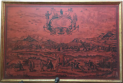 "Antique ""Occidens"" Signed  Framed Art Work Large Print Gold Frame Home Decor Vintage Old"