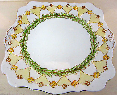 Ceramic Serving Dish - Fine Bone China Made In England - Vintage Laurel Design