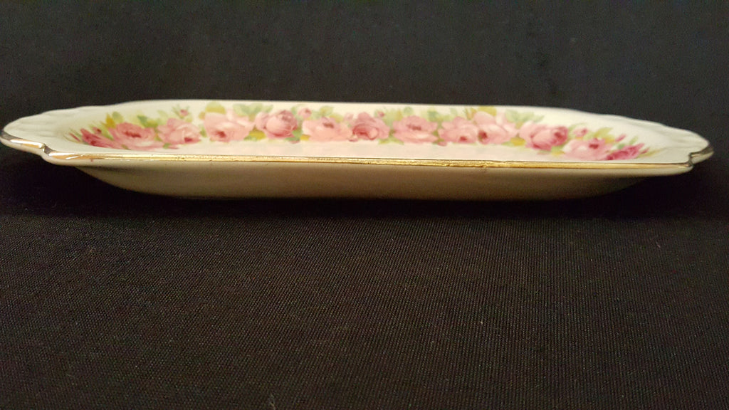 Royal Doulton, Pink Floral Ceramic Tray. made in England.