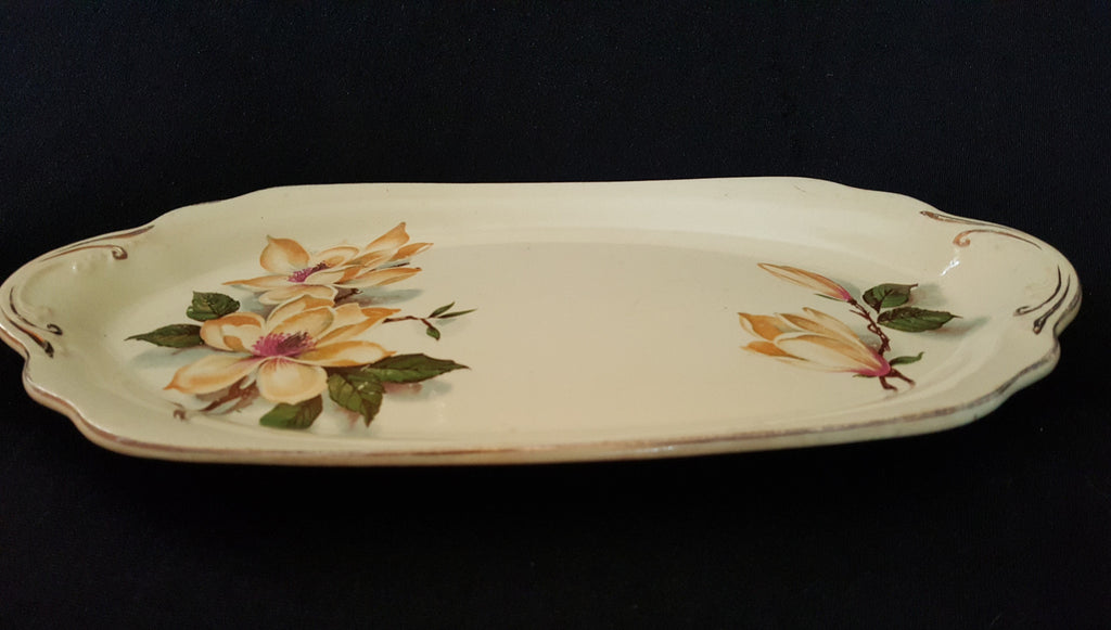 J & G Meakin Sunshine tableware, Floral Ceramic Platter, made in England