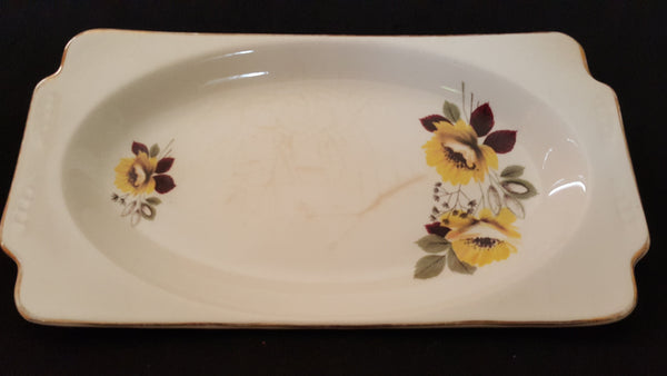 A Wood & Sons Burslem England Alpine White English Large Rectangular White Platter