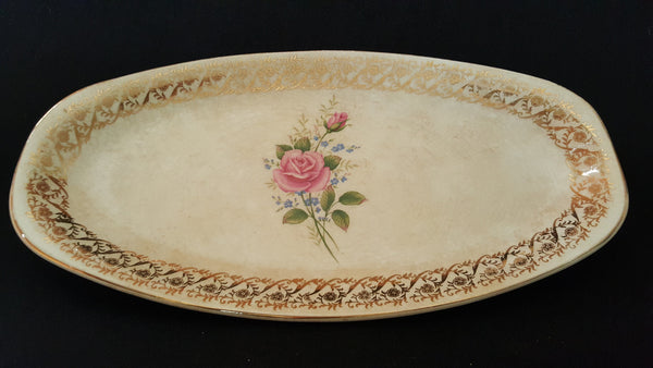 British Anchor Staffordshire l arge Ceramic Serving Platter, made in England.