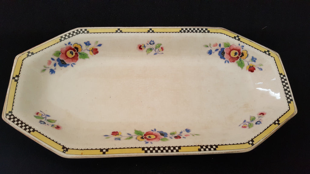 A Wilkinson Ltd, Royal Staffordshire Pottery, large Octagonal Fruit Platter, made in England.