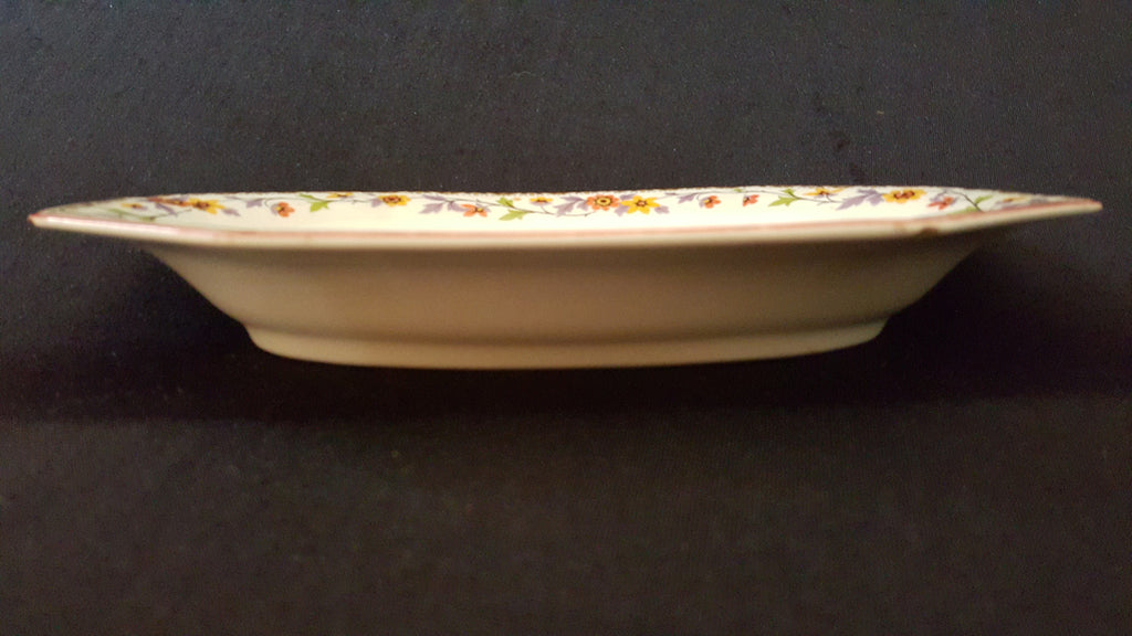 Myott Son & Co Serveware, White Floral Octagonal Salad Bowl , made in England