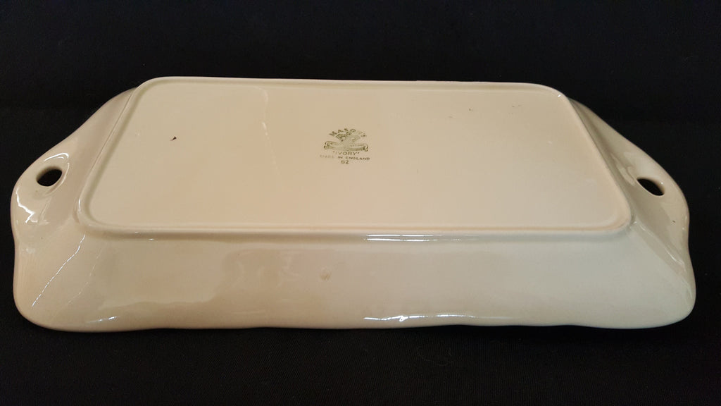Mason's two-Handle Rectangular Ceramic Tray, made in England 1982