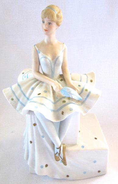 Ballerina Sculpture / Figurine, Wind-up Music Player