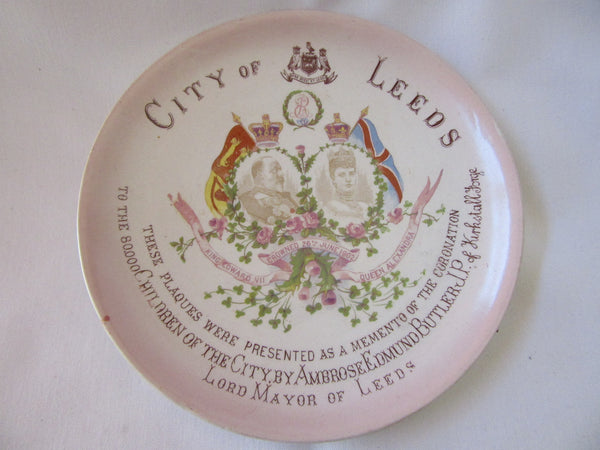 King Edward VII Coronation Plate – City of Leeds 1902 Commemorative Plate