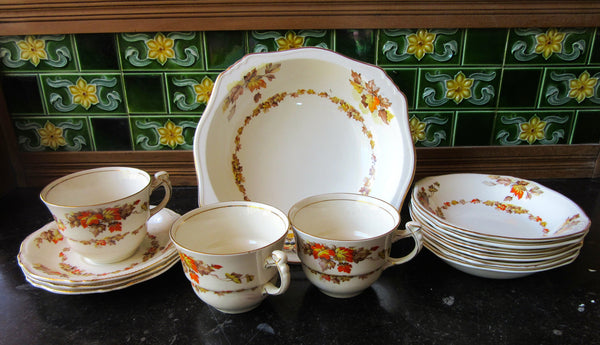 Royal Wilton Grimwades 'Maple Leaf' Tableware Set, Made in England