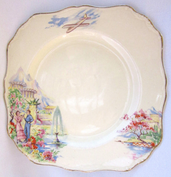 J & G Meakin 'Sunshine' Plate, Made in England