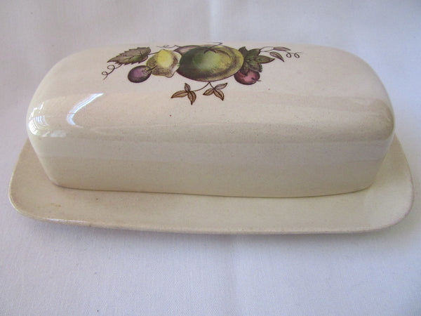 Porcelain Serving Dish with Lid Rare – Vintage Serving Plate with Lid – Staffordshire Old Granite Orchard Johnson Brothers Dinnerware