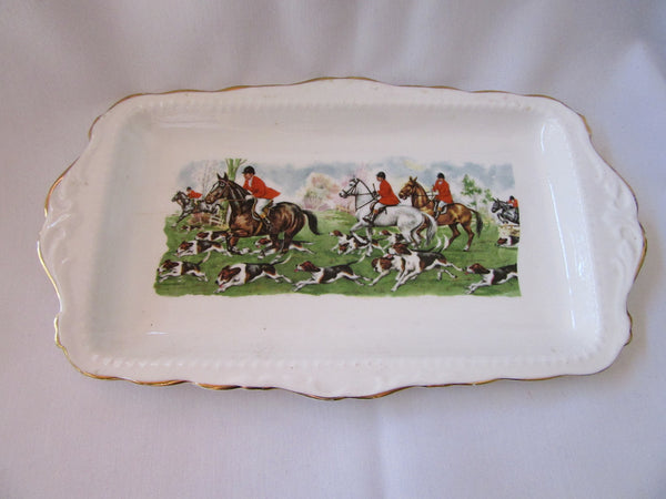 Food Serving Tray with Handles – Large Vintage Food Platter – Kath Bone China Dinner Tray