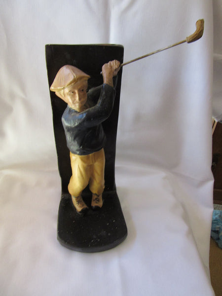 Golfer Figurine Bookend – Collectible Figurine Bookend