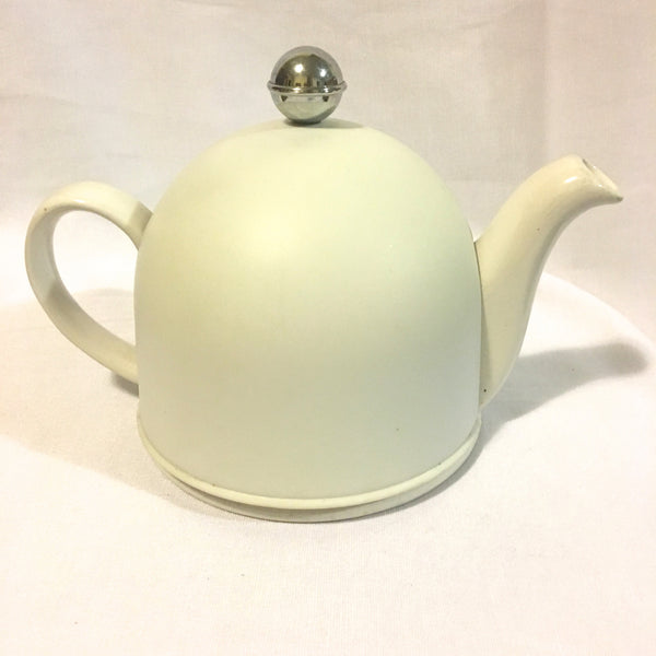 Vintage White Teapot with Cover