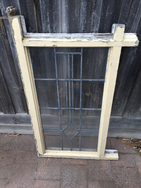 Antique Old English Lead Glass Window #2