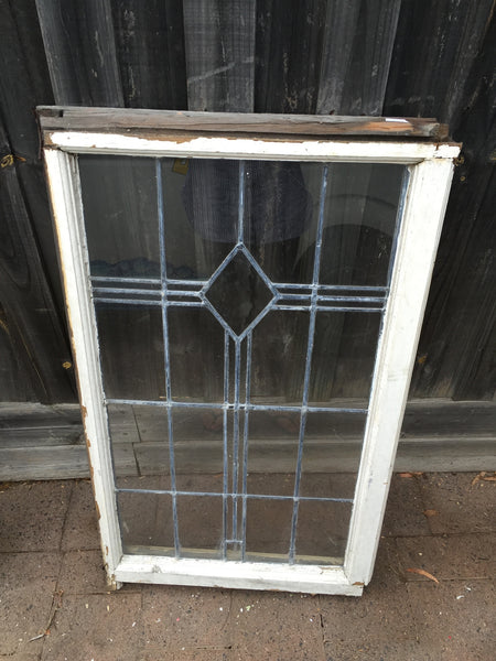 Antique Old English Lead Glass Window x2 #3 & #4