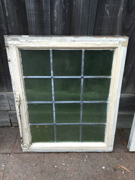 Antique Old English Leaded Stained Glass Window #11