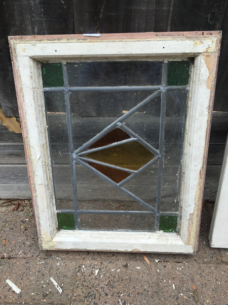 Antique Old English Leaded  Stained Glass Window #16