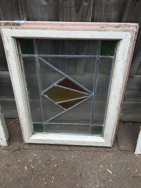 Antique Old English Leaded  Stained Glass Window #20