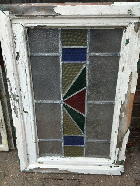 Antique Old English Leaded  Stained Glass Window #22