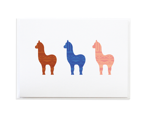 Alpaca Greeting Card by Anne Green Design