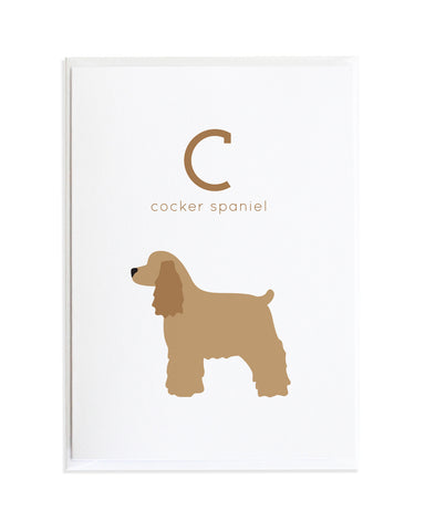 Alphadog Alphabet Series Cocker Spaniel by Anne Green Design Copyright 2015