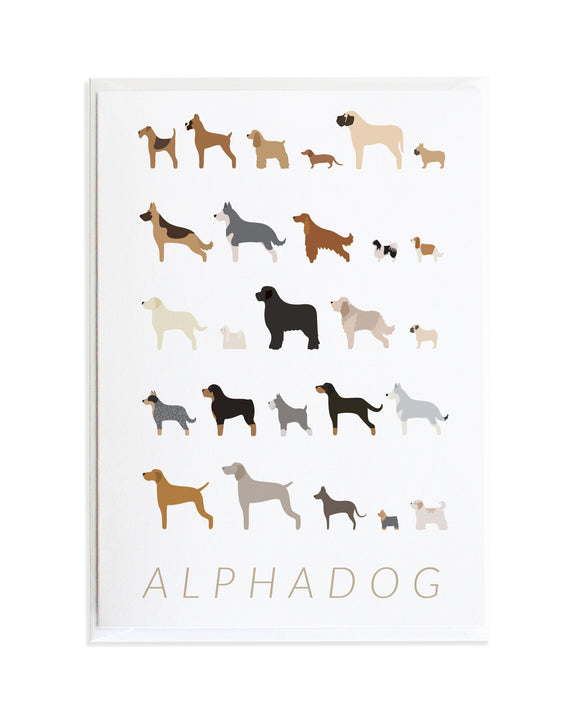 Alphadog Alphabet Dog Greeting Card by Anne Green Design © 2015