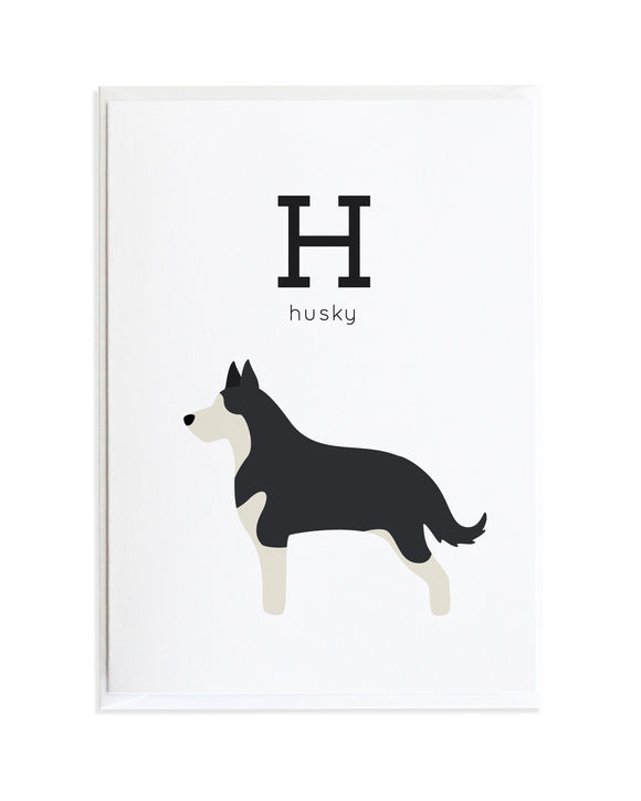 Alphadog Alphabet Series Husky by Anne Green Design Copyright 2015