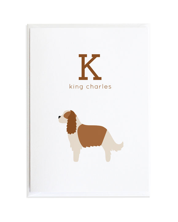 Alphadog Alphabet Series King Charles Spaniel by Anne Green Design Copyright 2015