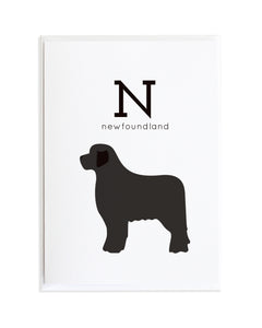 Alphadog Alphabet Series Newfoundland by Anne Green Design Copyright 2015