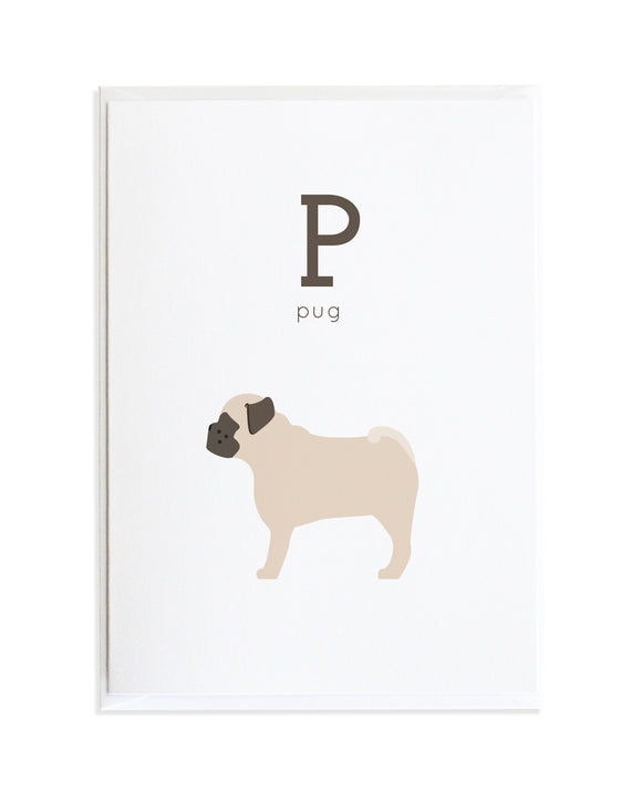 Alphadog Alphabet Series Pug by Anne Green Design Copyright 2015