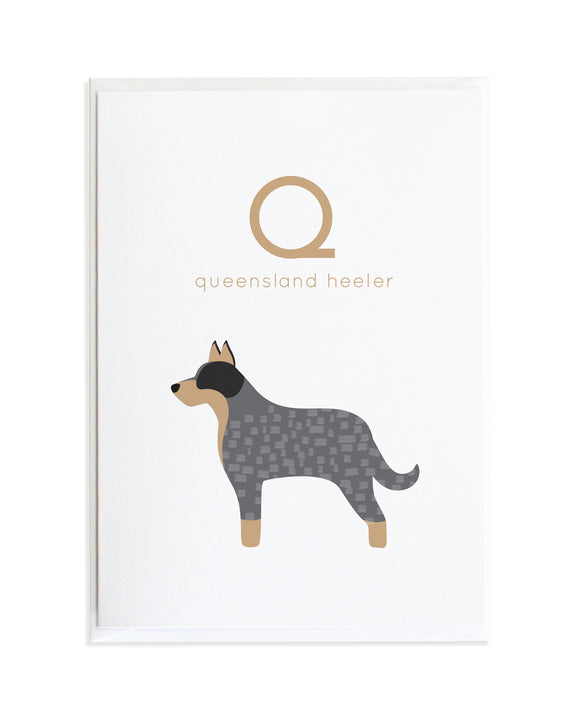 Alphadog Alphabet Series Queensland Heeler by Anne Green Design Copyright 2015
