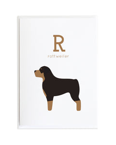 Alphadog Alphabet Series Rottweiler by Anne Green Design Copyright 2015