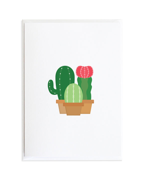 Cactus Greeting Card by Anne Green Design