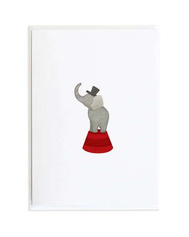 Circus Elephant Greeting Card by Anne Green Design